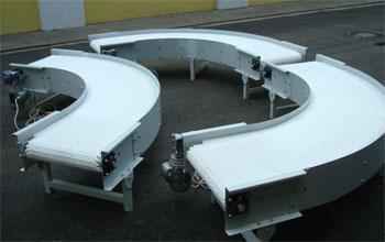 поворотный модульный конвейер